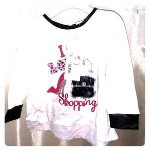 """Buster Brown 18m Long Sleeved """"I Love to Shop"""" Tee"""